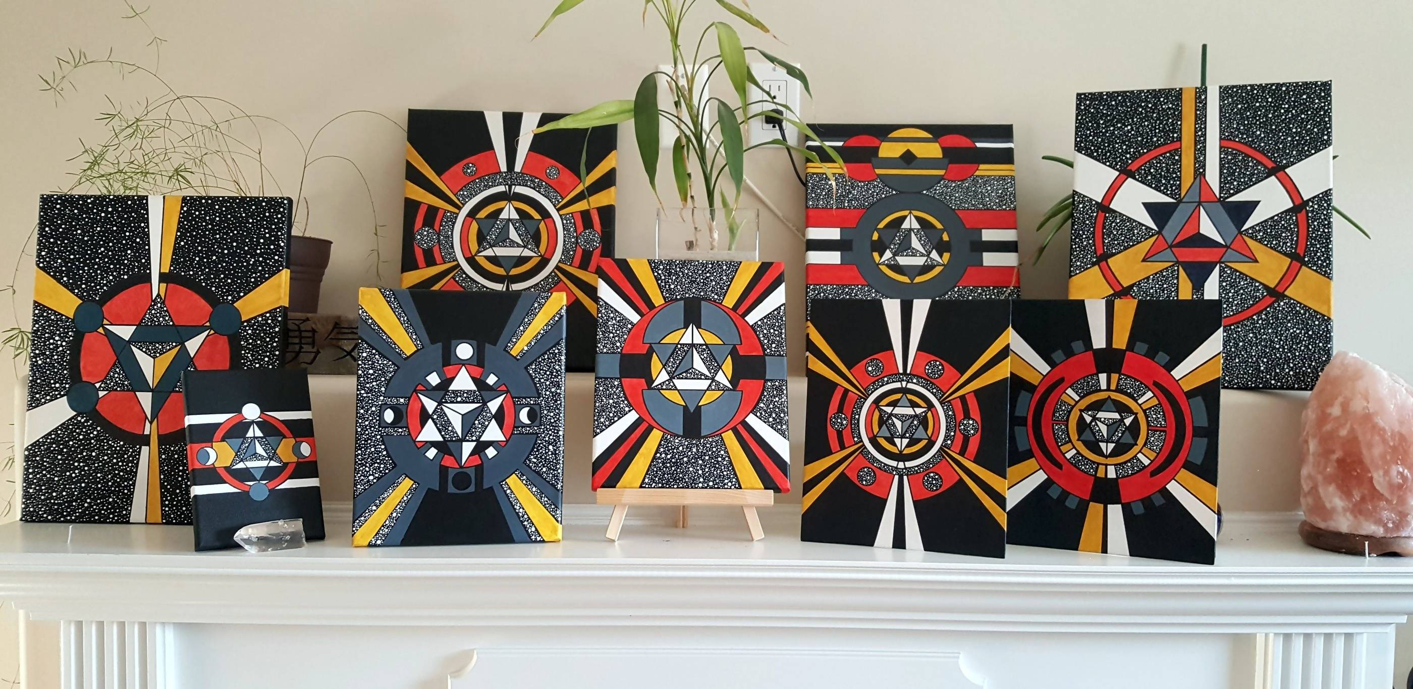 Merkaba Acrylic Paintings