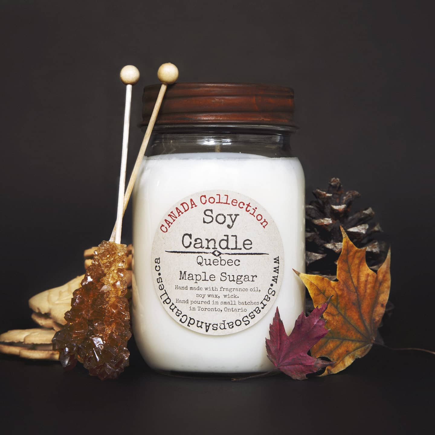 Quebec Maple Sugar Soy Candle - 14oz