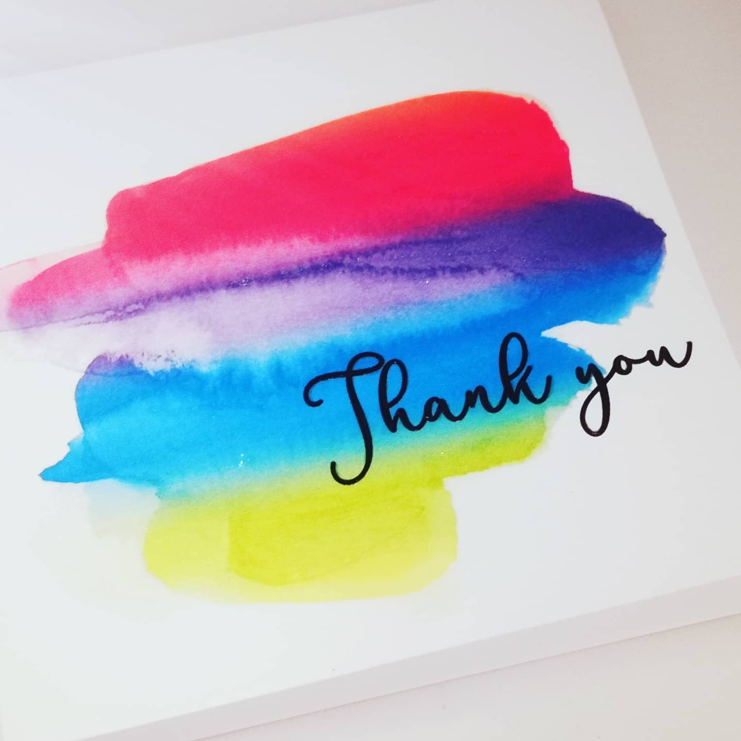 Card - Rainbow of thanks