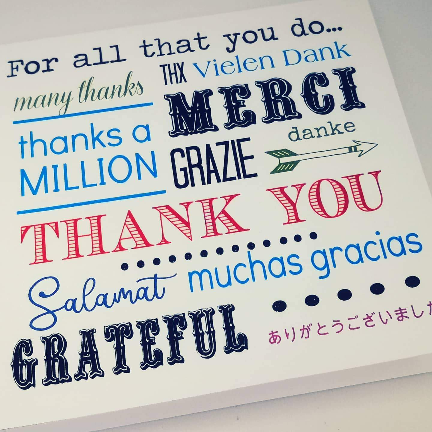 Card - Thank you (languages)