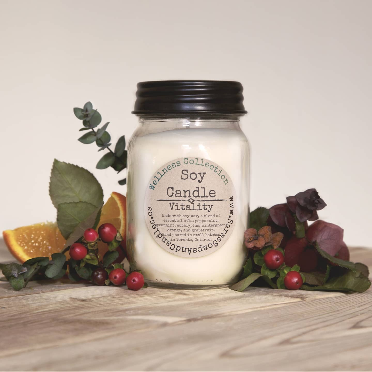 Vitality Soy Candle - 14oz
