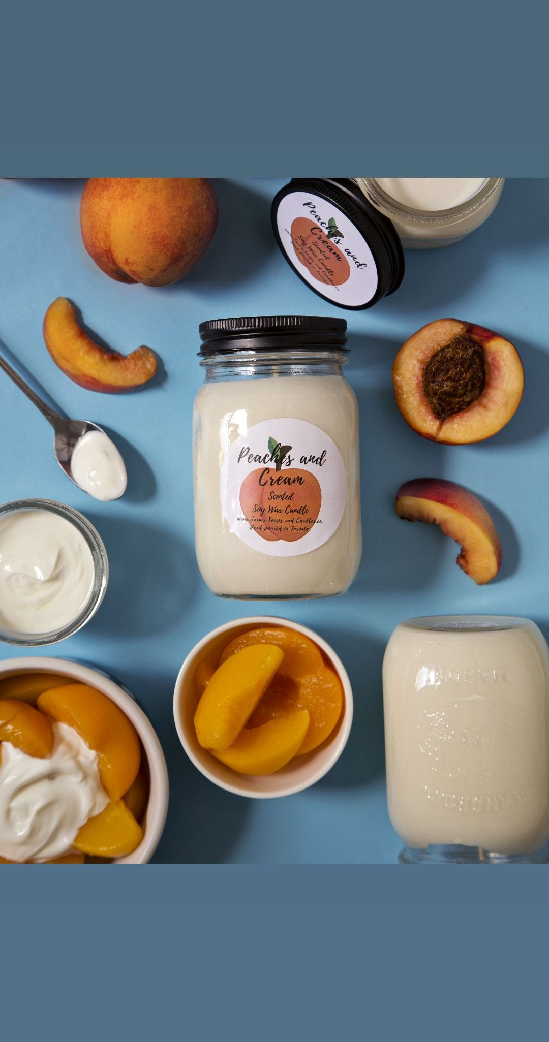 Peaches and Cream Soy Candle - 14oz
