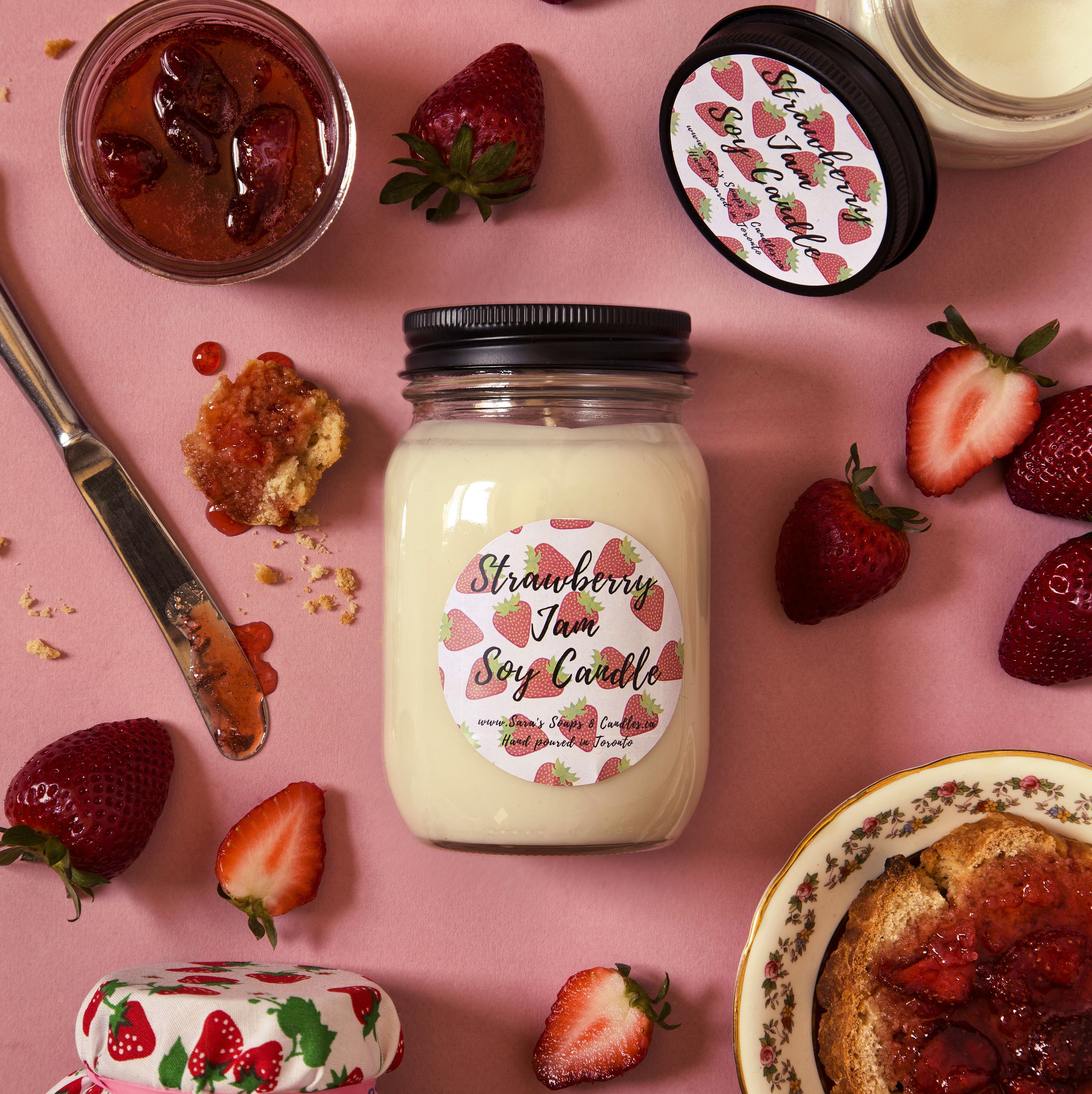 Strawberry Jam Candle - 14oz