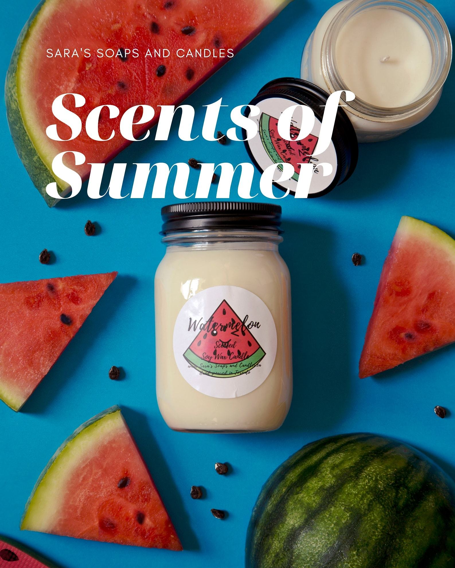 Watermelon Soy Candle - 14oz