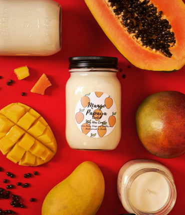 Mango papaya - 14 oz soy candle