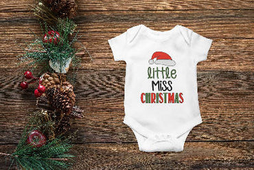 Little Miss Christmas Onesie