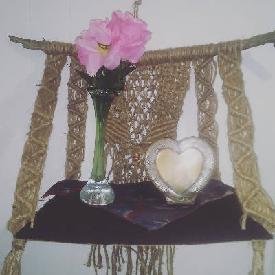 Macrame Hanging shelf