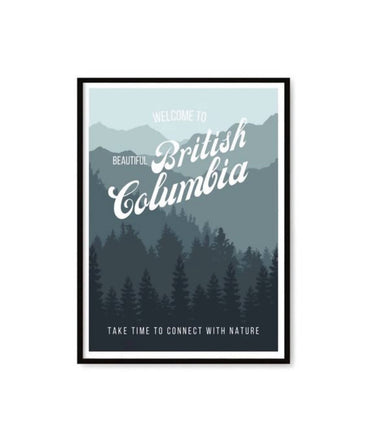 'Welcome To' British Columbia Art Print 6x9