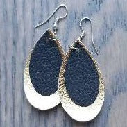 Faux-Leather Earrings