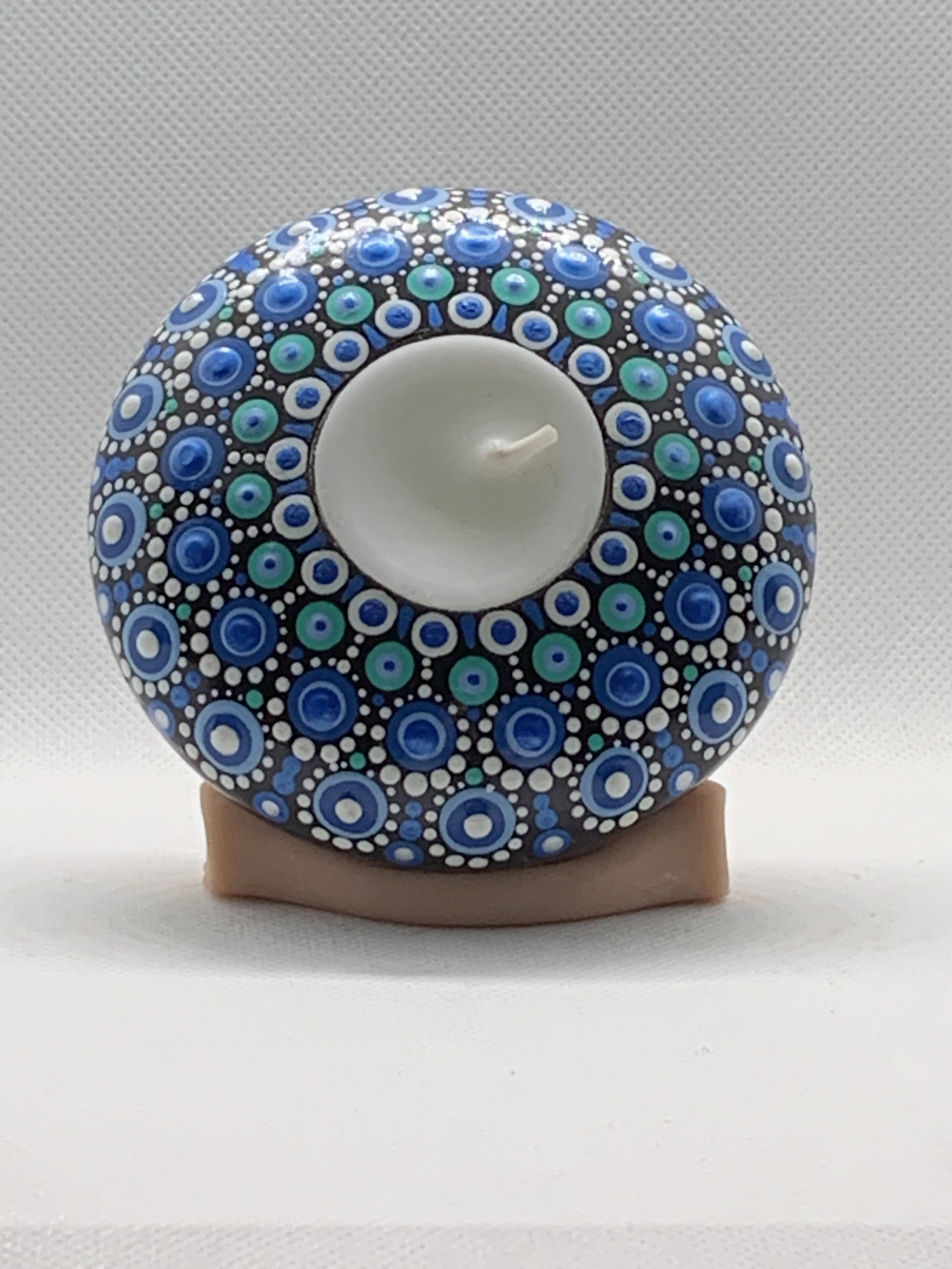 Blue Dots Tea Light