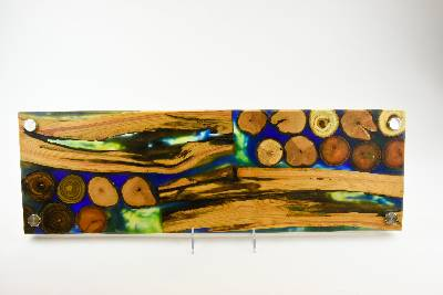 Cheese board, serving board, bread board, charcuterie board, various woods and epoxy resin, art panel, wood art, one of a kind, tp149