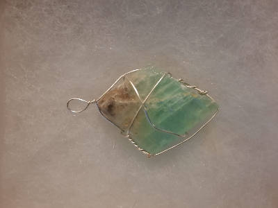 Wired Wrapped Gemstone Pendant