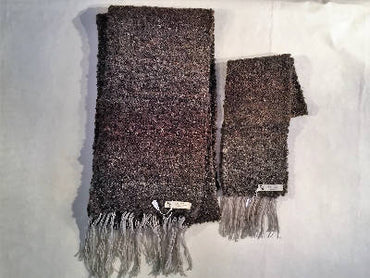 handwoven matching scarves Brown and Tan