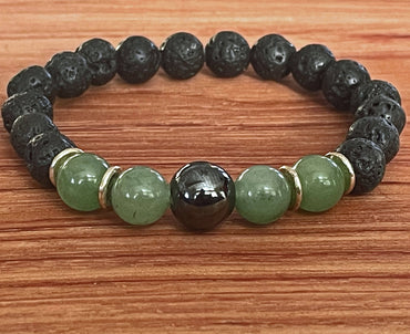 """Opportunity, Luck & Perseverance"" Stretch Bracelet"