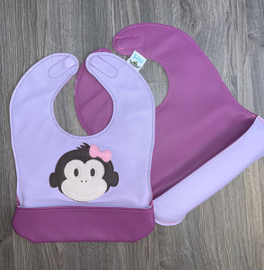 Infant Monkey Bib with Bow