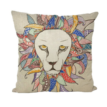 King of the Beast Throw Pillow Cover