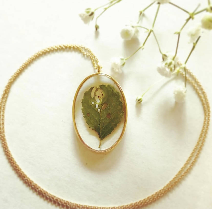 Real Leaf 14k Gold-Filled Chain