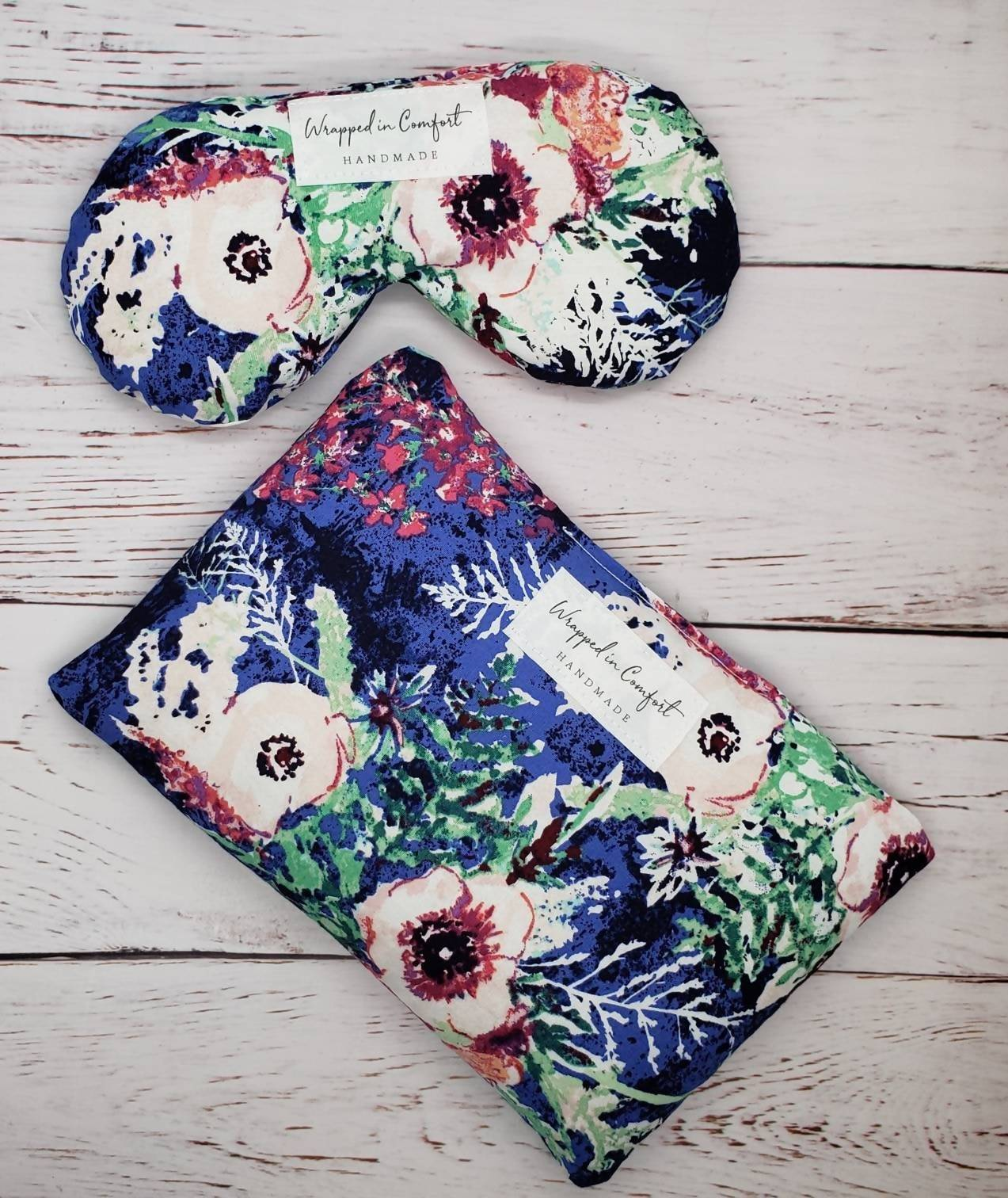 Heating Pad & Eye Pillow Bundle, Rice or Flaxseed