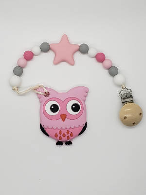 Pacifier Holder & Silicone Teether Combo