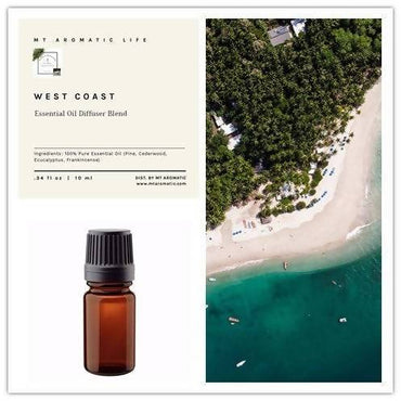 WEST COAST Rainforest - Essential Oil, Essential Oil Diffuser Blends, Aromatherapy - Nature, Refresh, Uplifting - Insects and Bugs Away