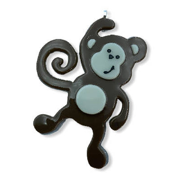 Fused Glass Monkey Ornament