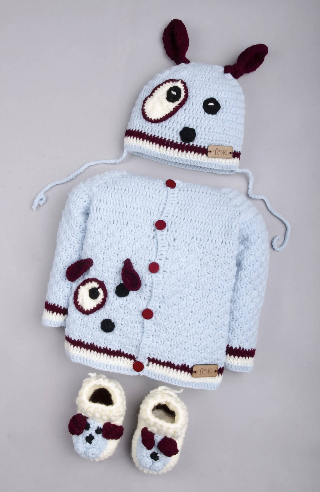 Blue baby sweater 3-6 months