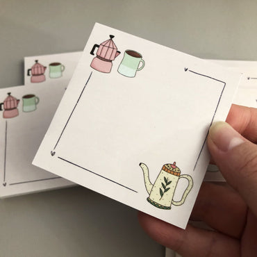 Coffee lover sticky notes