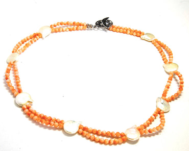 Vintage Coral and Fresh Water Pearl Necklace