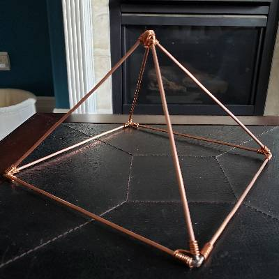 Copper Hand-Crafted Pyramids