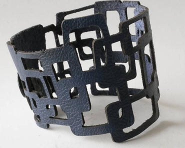 Art Deco Leather Bracelet