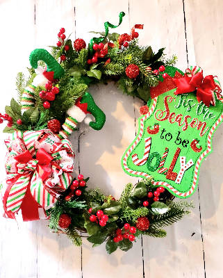 Jolly Elf wreath