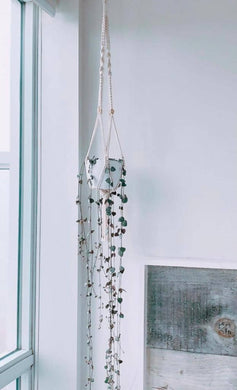 Macramé Hanging Planter - with Tassel