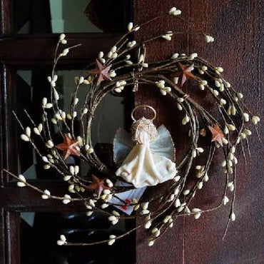 "6"" Cream Berry Angel Wreath"