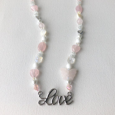 Rose Quartz 'Love' necklace
