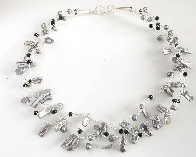 Signature Fresh Water Pearl Multi-strand Necklace