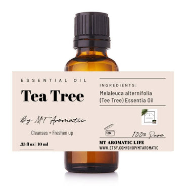 Tea Tree Organic Essential Oil -100% Pure Tea Tree Oil -Therapeutic grade, combat skin blemishes, soothing -Aromatherapy, Natural Skincare
