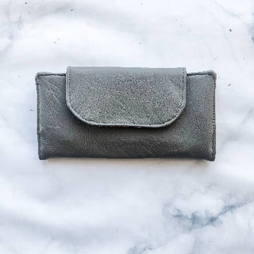 Slimline Wallet - Vegan Leather - Dark Grey
