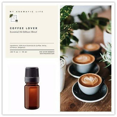 COFFEE LOVER - Organic Essential Oil, Essential Oil Diffuser Blends, Aromatherapy - Aromatic, Energizing, Improve focus and Feels Good Gift
