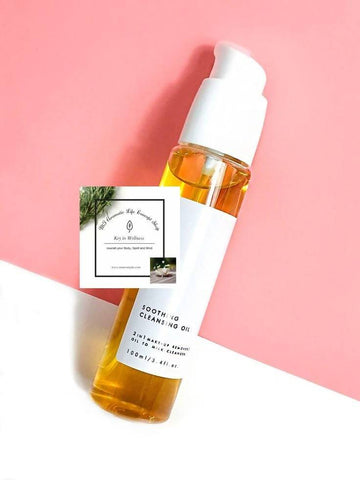 Soothing Cleansing Oil, Makeup Remover (Geranium / Patchouli Blend) - Natural, Organic, PEG free-Calm, Nourish, All skin type.