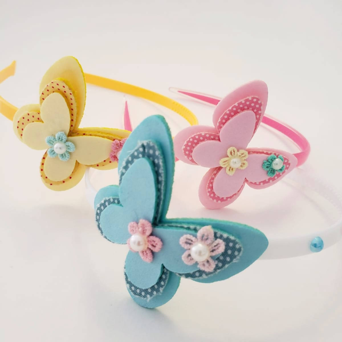 Baby bows, butterfly headband, kid's headband, Easter, spring colors,Baby headband