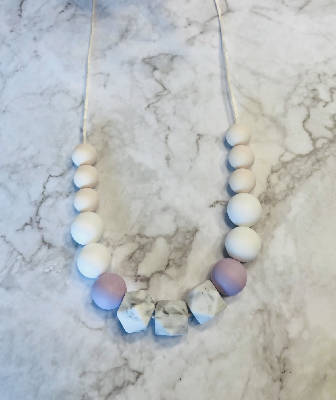 Teething Necklace, Lilac