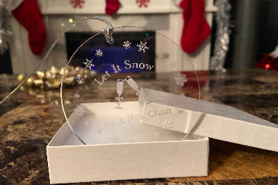 Custom Engraved Acrylic Ornament