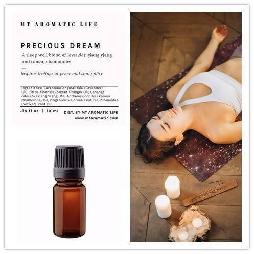 PRECIOUS DREAM Diffuser Blend - Aroma Diffuser-Sleep Well Gift-Pure Essential Oils-Natural Remedies for relaxation, peace and tranquility