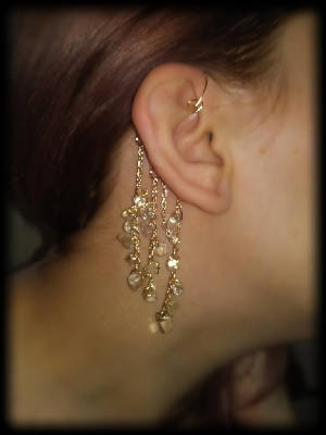 Gold & Citrine Ear Cuff