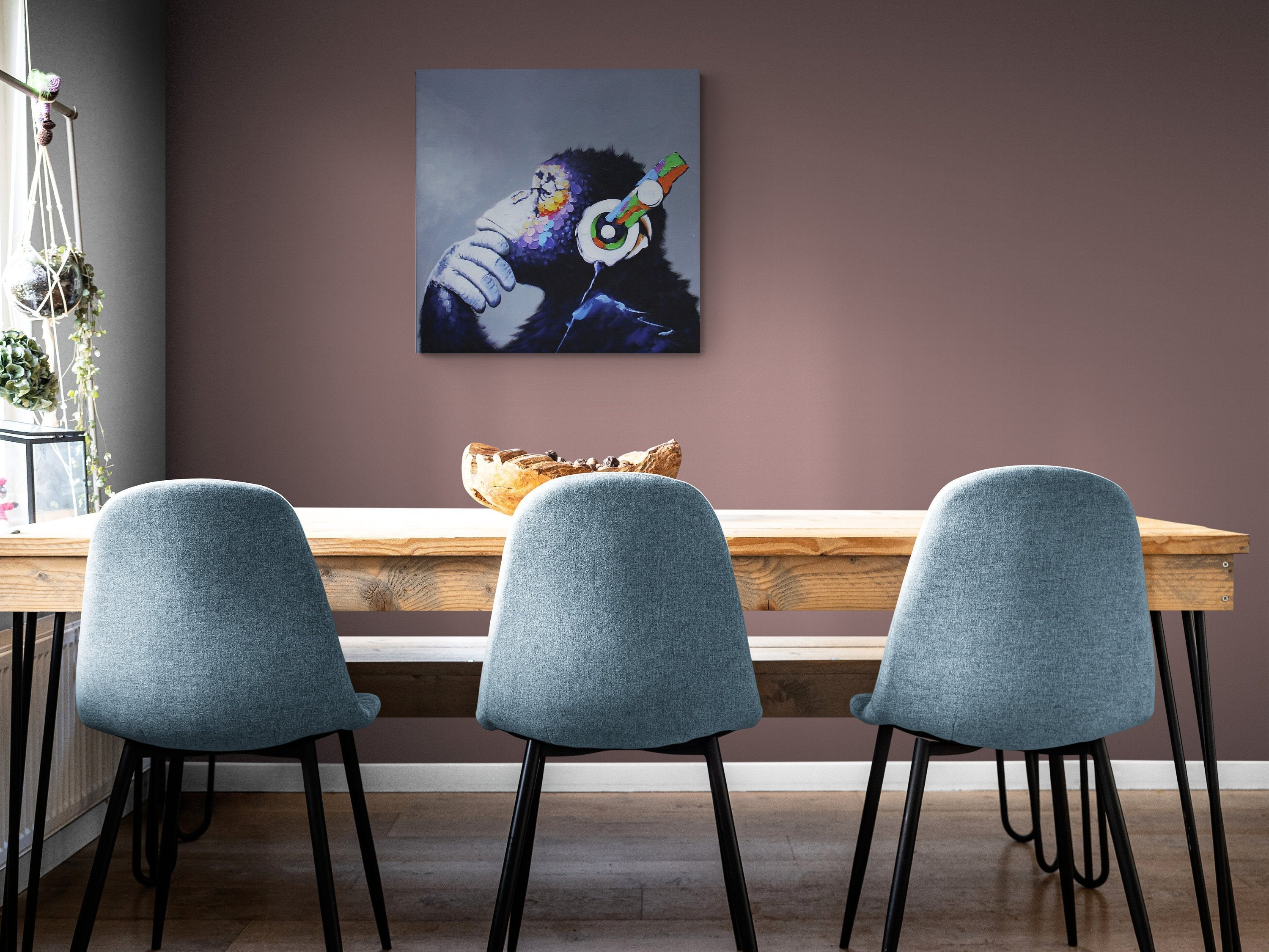 Abstract canvas print, monkey, Bansky