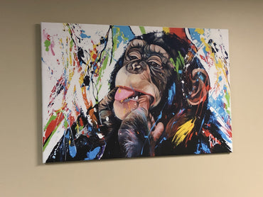 "Abstract canvas print ""monkey eating finger"""