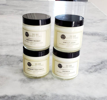 35 Hour Burn & 75 Hour Burn| Soy candles hand poured in Canada