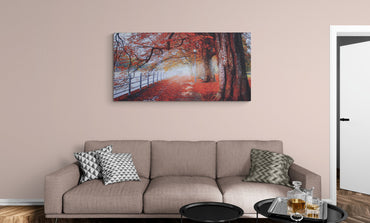 "Canvas print ""Fall walk"" wall decor"