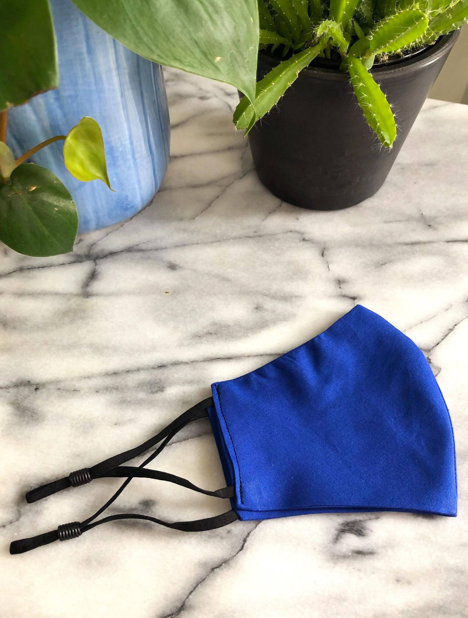 Adult standard cotton face mask- royal blue