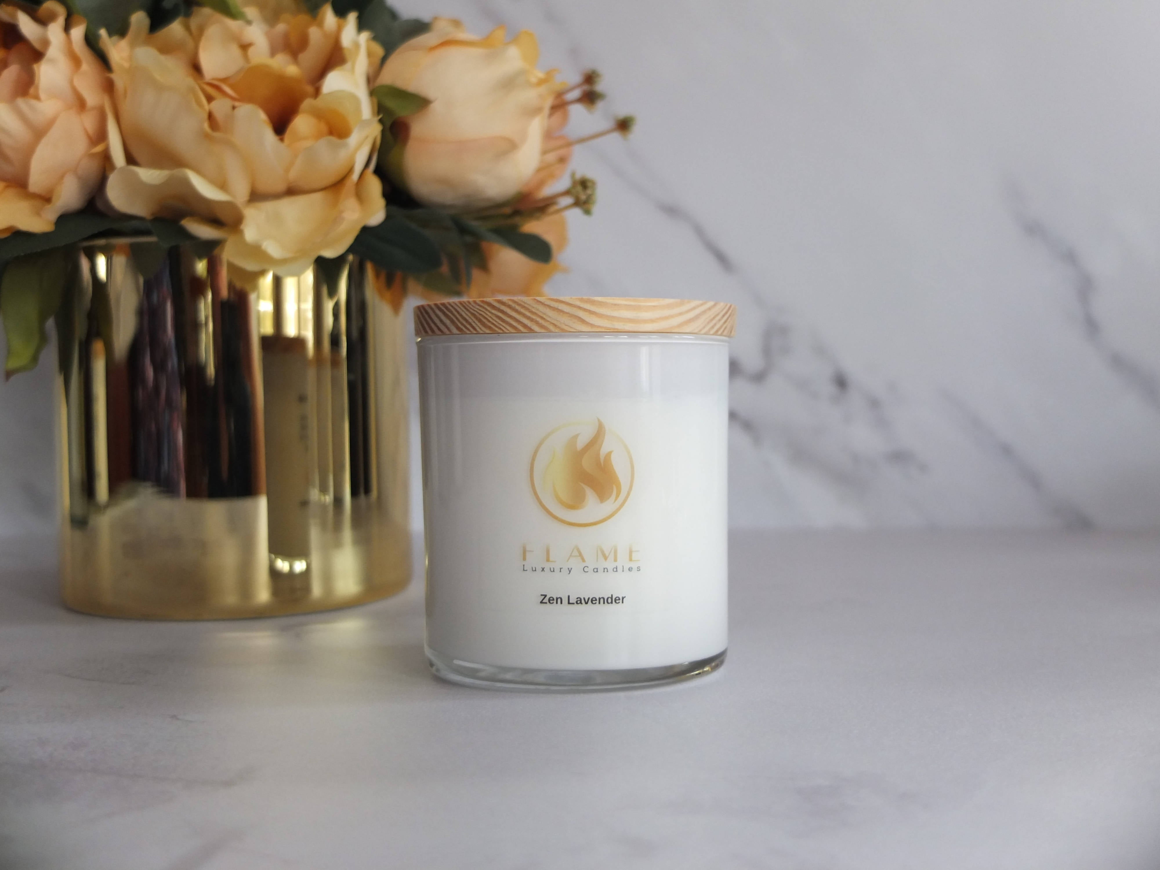 Luxe soy candle. 10 oz. Zen Lavender.